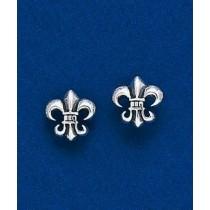 Fleur de lis Gothic Post Earrings