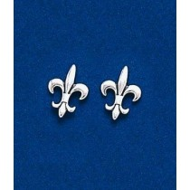 Fleur de lis Medium Classic Post Earrings