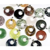 Gemstone Donut Pendant