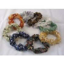 Triple Strand Gemstone Chip Bracelet