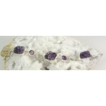 Amethyst with Herkimer Quartz Bracelet