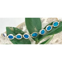 Blue Mountain Butterfly Circle Bracelet