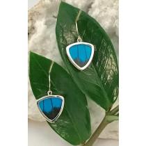 Blue Mountain Butterfly Triangle Earrings