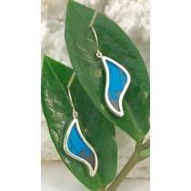 Blue Mountain Butterfly Wave Earrings