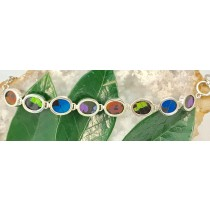 Butterfly Wing Mix Oval Toggle Bracelet