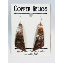 Copper Fern Angle Earring