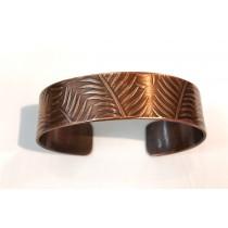 Copper Fern Skinny Cuff Bracelet