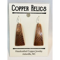 Copper Fern Triangle Earring