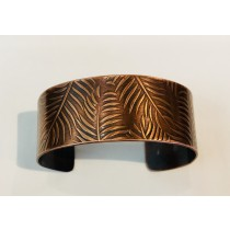 Copper Fern Wide Cuff Bracelet