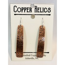 Copper Paisley Rectangle Earring