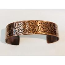 Copper Paisley Skinny Cuff Bracelet