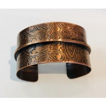 Copper Single Fold Steam Punk Cuff Bracelet