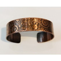 Copper Steam Punk Skinny Cuff Bracelet