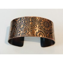 Copper Steampunk Wide Cuff Bracelet