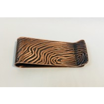 Copper Wood Grain Money Clip