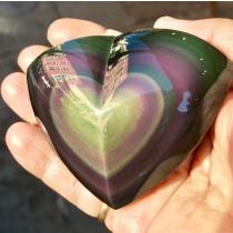 Rainbow Obsidian Polished Heart