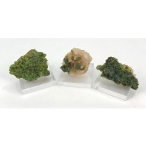 Epidote Clusters from Morocco on Acrylic