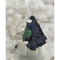 Azurite with Malachite Raw Ring