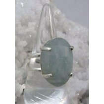 Aquamarine Faceted Prong Set Ring