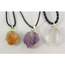 Natural Mineral Point Pendants