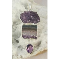 Amethyst Cluster with Slice Pendant