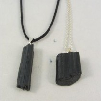 Black Tourmaline Raw Pendant