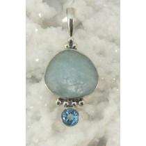 Aquamarine with Blue Topaz Pendant