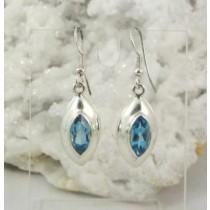 Blue Topaz Marquise Cut Earrings