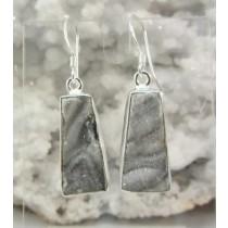 Chalcedony Druzy Trapezoid Earrings