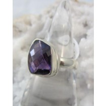 Amethyst Cushion Cut Freeform Ring