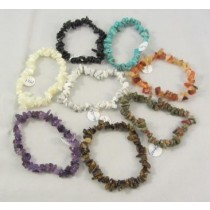 Small Gemstone Chip Bracelets