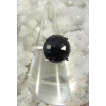 Black Onyx Faceted Dome Ring
