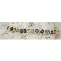 Amethyst and Citrine Multi Gem Bracelet