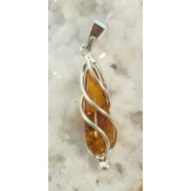 Amber Honey Swirl Pendant