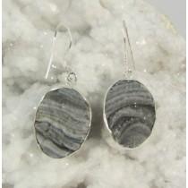 Chalcedony Druzy Oval Earring