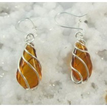 Amber Honey Swirl Earrings