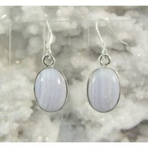 Blue Lace Agate Oval Cabachon Earring