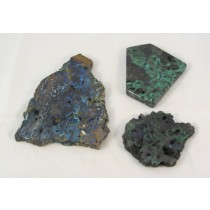 Malachite with Azurite Partial Polished Slabs