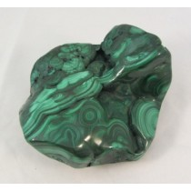 Malachite Partial Polished Freeform