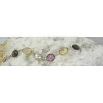 Amethyst with Citrine & Smoky Quartz Lightweight Bracelet