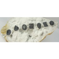 Chalcedony Agate Droozy Multi Shape Bracelet with Adjustable Toggle Clasp