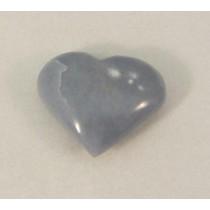 Angelite Polished Puff Heart