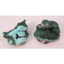 Chrysocolla with Malachite Premium Clusters