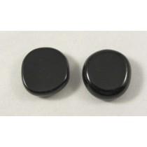 Black Obsidian Polished Coin