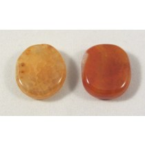 Fire Agate Polished Coin
