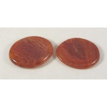 Fire Agate Flat Smooth Stone