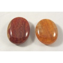 Fire Agate Polished Pillow