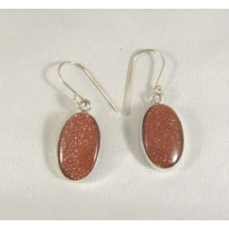 Goldstone Oval Cabachon Earring
