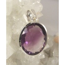 Amethyst Premium Quality Faceted Oval Pendant