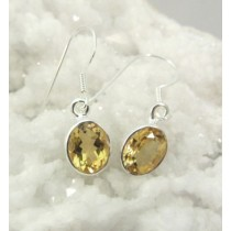 Citrine Oval Faceted Earring